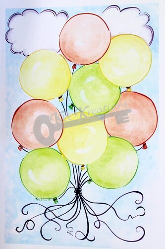 """""""Party Balloons"""" Print"""