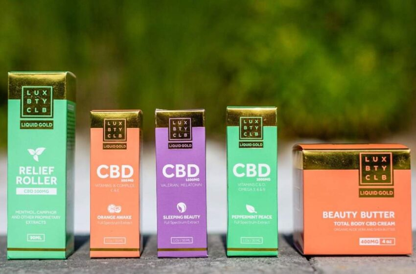 Lux Beauty Club CBD Products