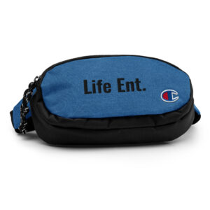 blue champion fanny pack