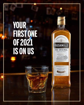 Bushmills Irish Whiskey Is Buying America's First Drink Of 2021
