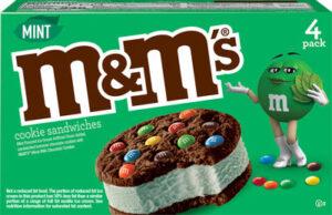 M&M's Mint Ice Cream Cookie Sandwich