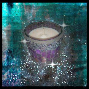 Goddess 33 Candles - Large Purple Mosaic
