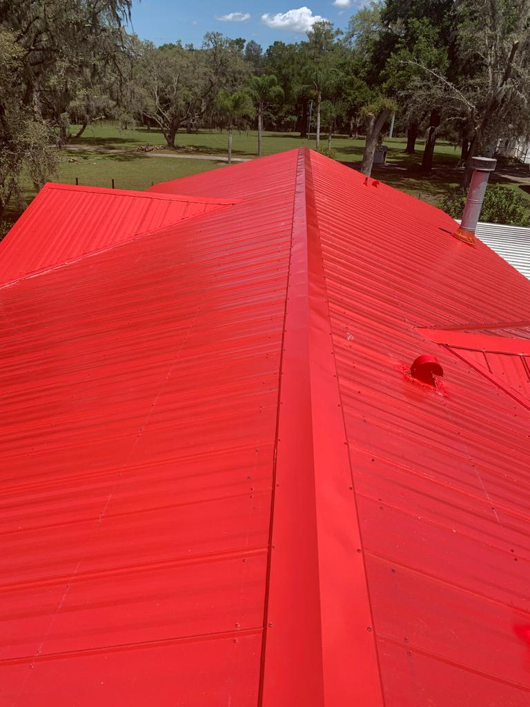 Custom Red Metal Roof