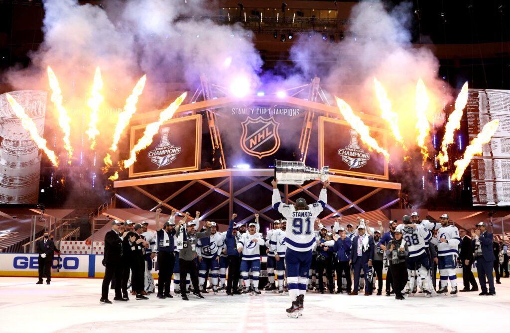 Tampa Bay Lightning Winning Stanley Cup Championship 2020. Picture from Tampa Bay Lightning Facebook Page