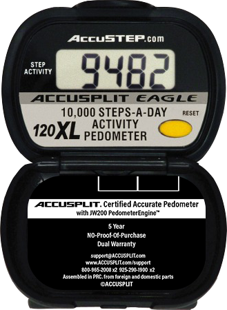 ACCUSPLIT AE120XL Certified Accurate Pedometer counts 10000 Steps
