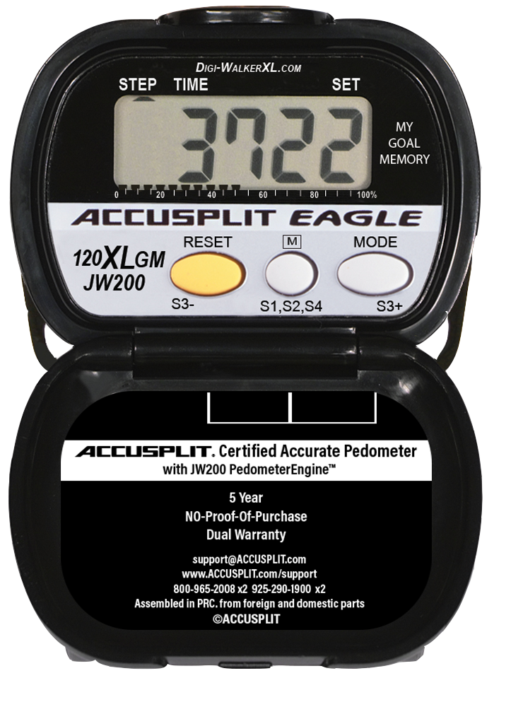 ACCUSPLIT AE120XLGM Certified Accurate Pedometer