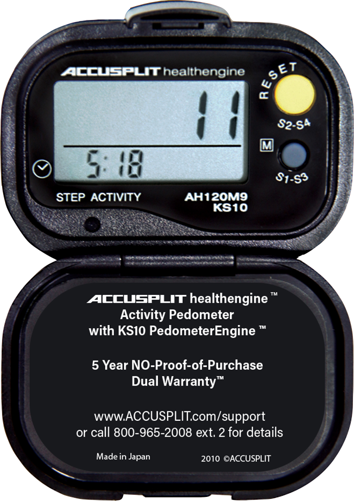 ACCUSPLIT AH120M9 Certified Accurate Pedometer
