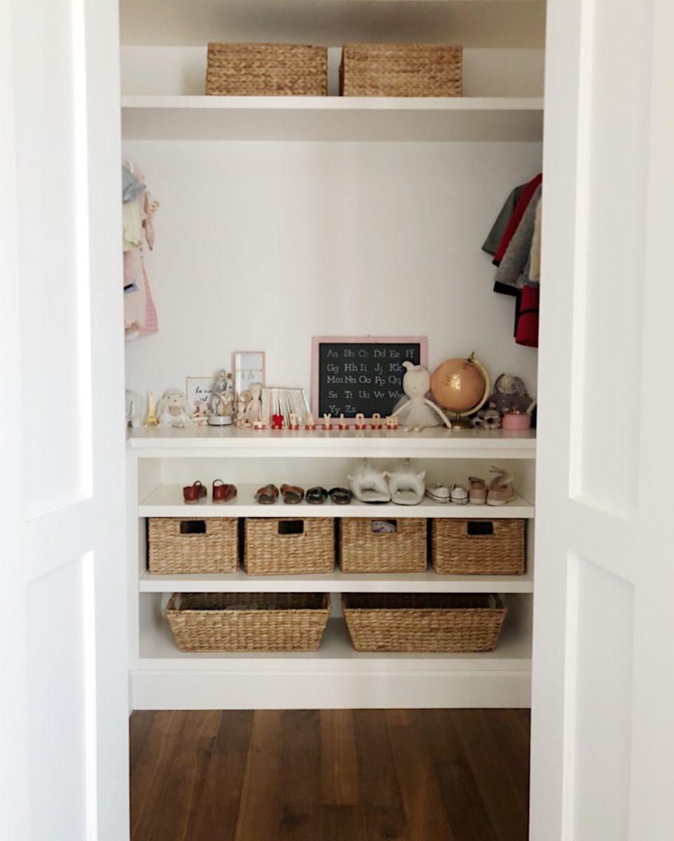 girls closet before