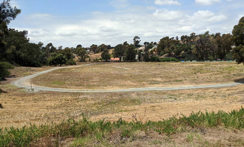 the covered landfill prior to project