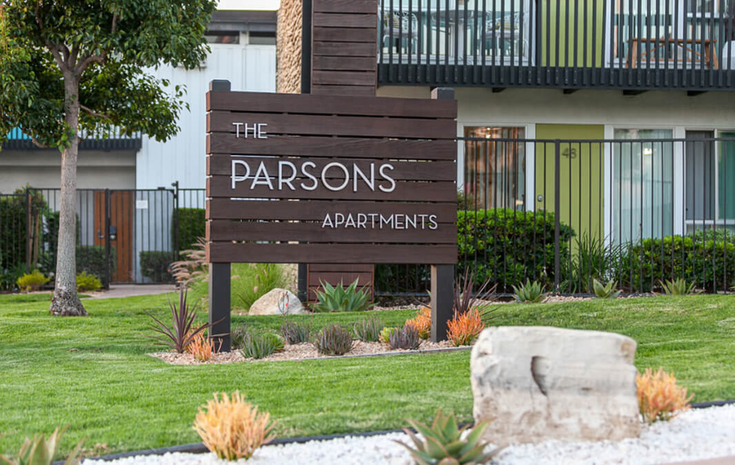 The Parsons Apartment Homes Sign