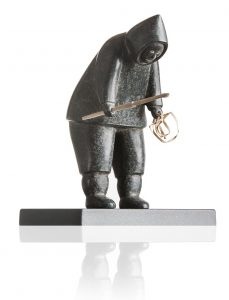 Fishing Inuit Statuette