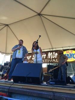 Emceeing 4 Square Mile Music Festival