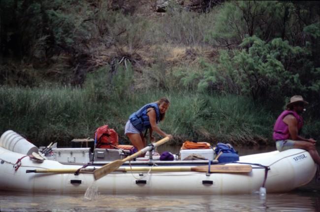 Cari's turn to row