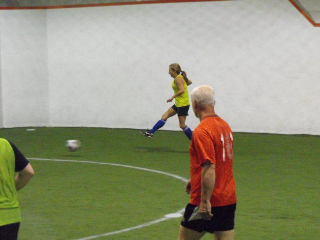 Dare to kick a ball