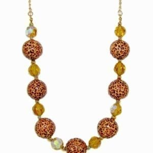 necklace with animal print beads