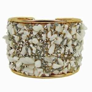 bangle with sharp white crystals