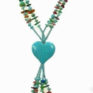 necklace with blue heart pendant