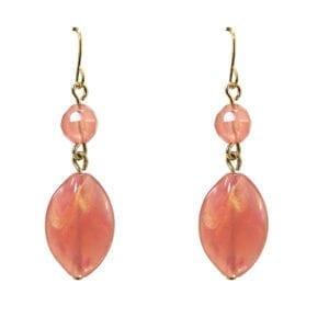 earrings with pink crystals