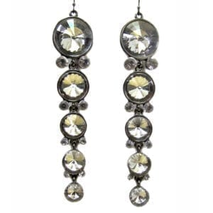 earrings with columns of white gems