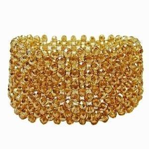 bangle with amber beads