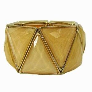 bracelet with triangular light brown gems
