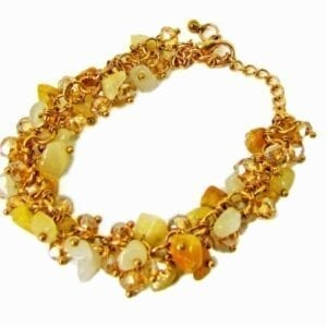 bracelet with bunch of yellow beads