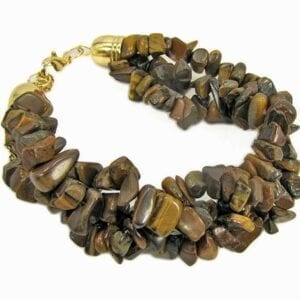 bracelet with clusters of brown beads