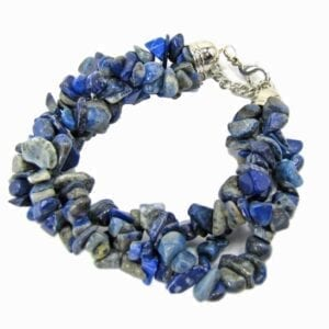 bracelet with bunch of blue beads