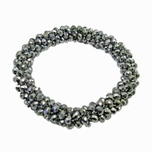bracelet with clusters of black beads