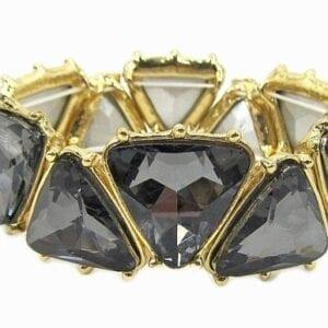 golden bracelet with triangular crystals