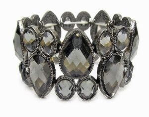 bangle with large dark crystals