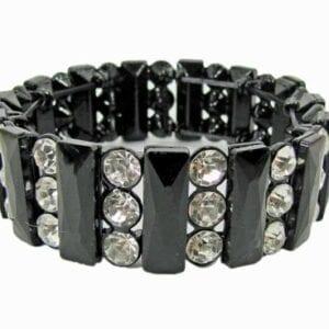 bangle with dark bars and crystals