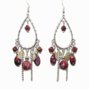 earrings with assorted attachments