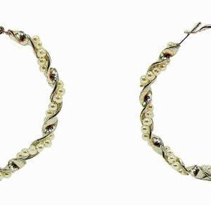 earrings with lines of twisted pearls
