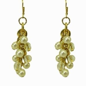 earrings with clusters of pearls
