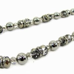 necklace with pearls and silver beads