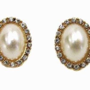 earrings with large oval pearls