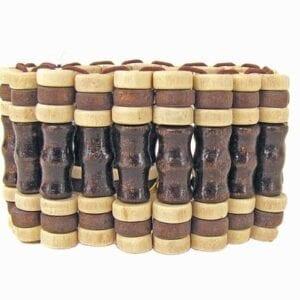 bracelet made of light brown wooden bars