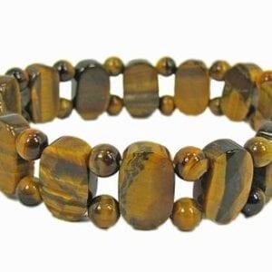 bracelet with stripped dark brown gemstones