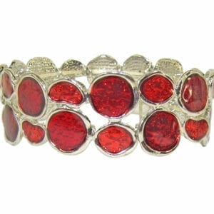 bracelet with deep red crystal inset