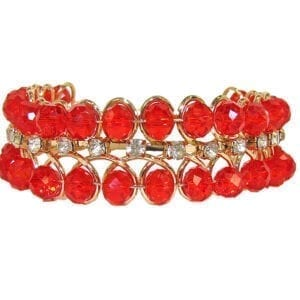 bangle with rows of bright red stones