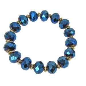 bracelet with dark blue crystals