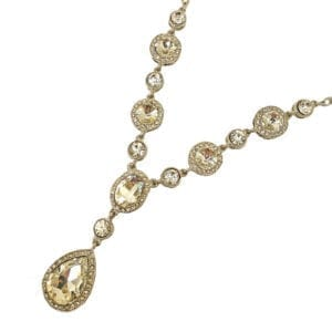 necklace with light brown precious stones