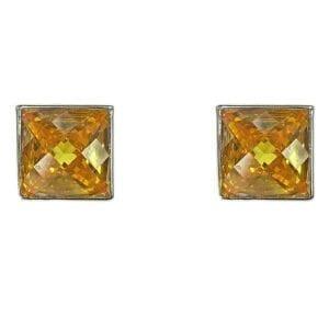 square-cut topaz earrings