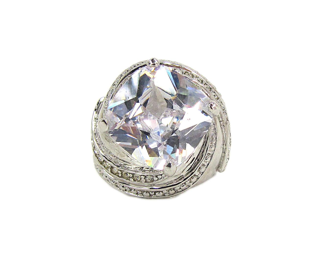 diamond ring with twisting design