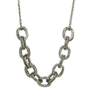 necklace with large silver chain links