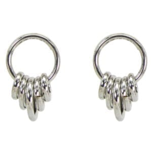 silver earrings with silver rings