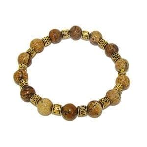 bracelet with dark brown spherical beads