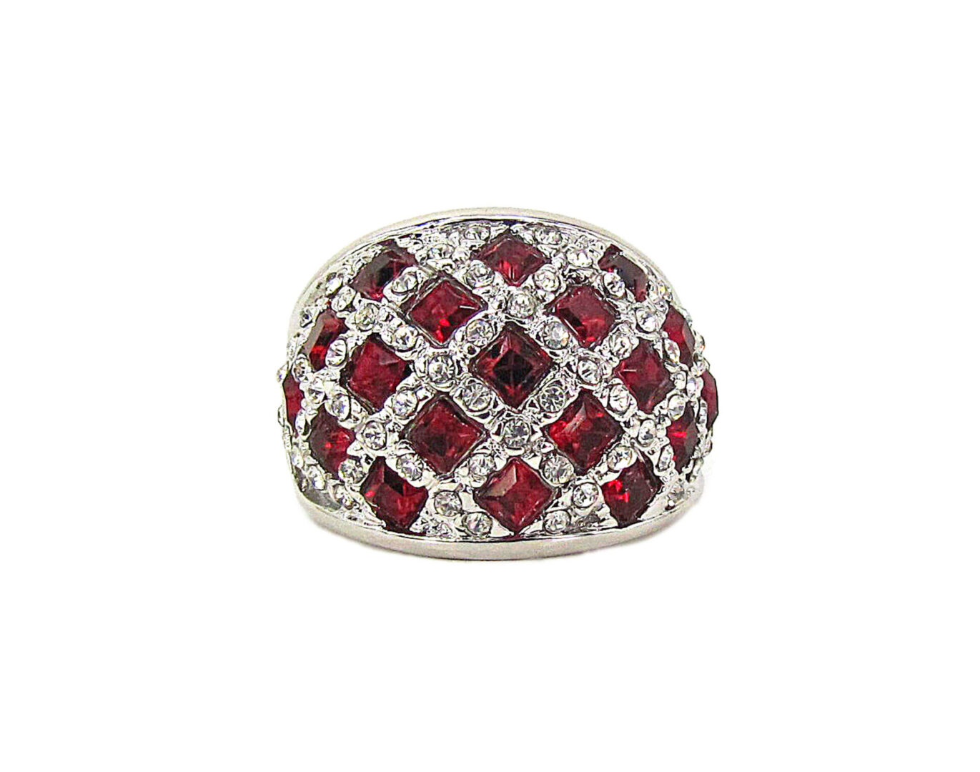 ring with grids of ruby gems