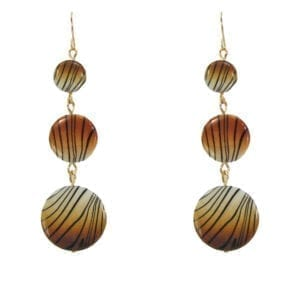 earrings with tiger-print pendants